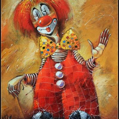 Клоун / Clown, 61x50
