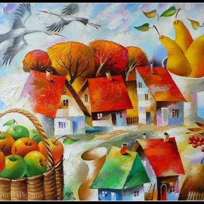 Краски осени / Herbstfarben, 60x73