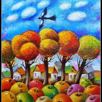 Осенний день / Herbsttag, 55x46