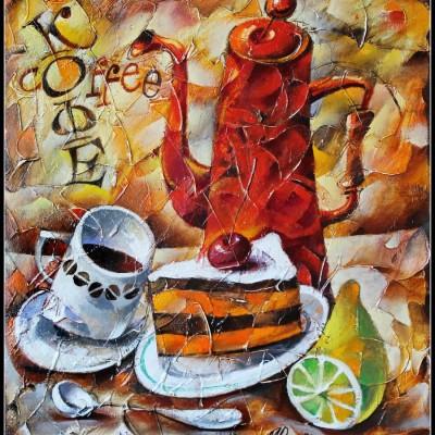 Натюрморт с кофейником / Kaffeekanne, 40х35