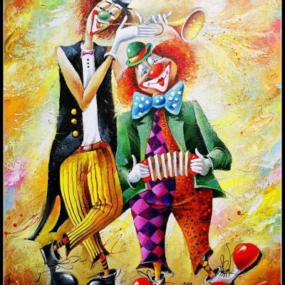 Веселый дует / Lustigers Duo, 73x60