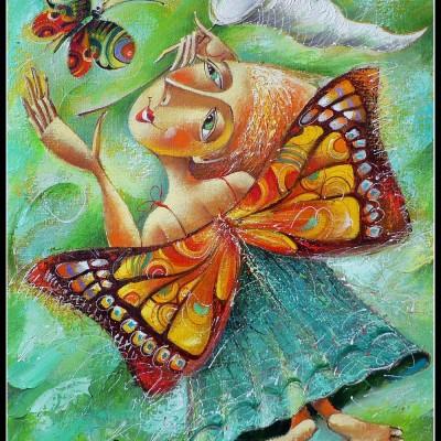 Бабочки / Schmetterling, 61х50