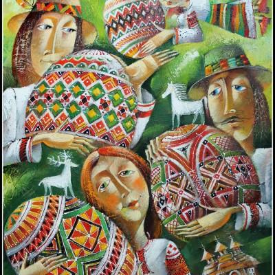 Колорит праздника / Farben des Fests, 61x50