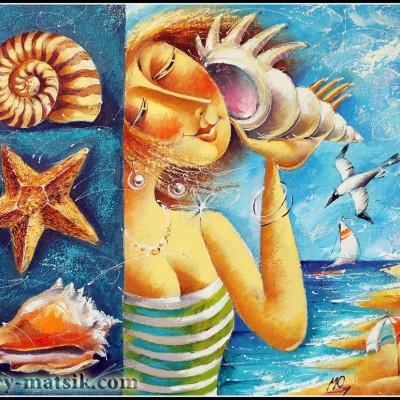Шум моря / Meeresrauschen 50x61