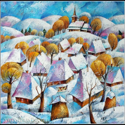 Зима в Карпатах / Winter in den Karpaten, 60х60